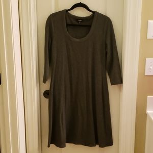 Swing Dress with Three Quarter Sleeves